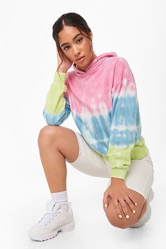Forever21 French Terry Tie-Dye Hoodie-Tie Dye Hoodie, Forever21, Stylish Trendy Clothes