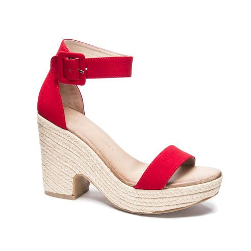 Chinese Laundry Queen Espadrille Sandal (other colors available)-Espadrille Sandals, Cute Sandals, Trendy Shoes, Stylish Red Sandals