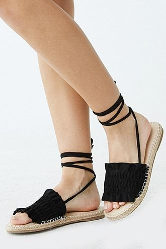 Forever21 Faux Suede Lace-up Espadrille Sandals-Espadrille Sandals, Trendy Summer Sandals youngandstylish